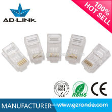 Retractable rj45 ethernet lan cable connector