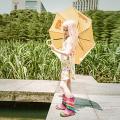 2020 New Fashion Design Half Calf Natural Rubber Rain Boots for Kids