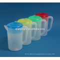 BPA free colorful plastic cold water kettle jugs with meansure scale line and lid