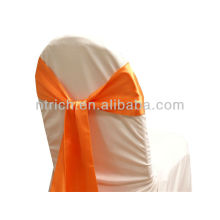 orange, fancy vogue satin chair sash tie back,bow tie,knot,wedding cheap chair covers and sashes for sale