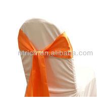 laranja, faixa de cetim cadeira chique moda volta, gravata gravata borboleta, nó, casamento barato cadeira capas e faixas para venda