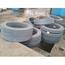 Excavator slewing bearing forging