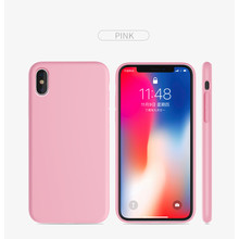 Coque en silicone iPhone X couleur rose