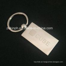 Metal gravado gravado Keychain do metal do laser Keychain feito sob encomenda para a promoção