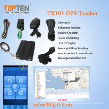 Sistema de rastreamento GPS com RFID, sensor de combustível, câmera, em dois sentidos falando livre (TK510-KW)