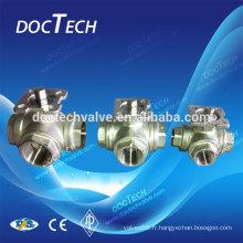 Mini haute qualité trilatérales, robinet à tournant sphérique de flottement