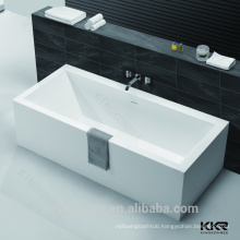 contemporary bathroom designs solid surface Red free-standing bathtub