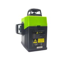 Medidor giratório de laser de linha cruzada com feixe verde 3D de 360 graus e 12 linhas