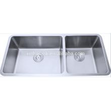 2015 Hotsell undermount stainless steel kitchen double sink
