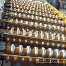 Folha de telhadura do metal que dá forma à máquina
