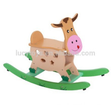 Kids Wooden Animals Zoo Rocking Horse Painted Swing Horse Toys