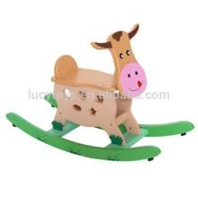 Animais de madeira para crianças Zoo Rocking Horse Pintado Swing Horse Brinquedos