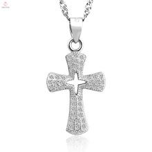 Nouvelle arrivée antique meilleur pendentif croix en argent sterling 925