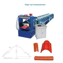 glazed metal roof tile ridge cap stepping machine