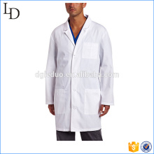 Back waist belt lab coat designs white coat for medical staff