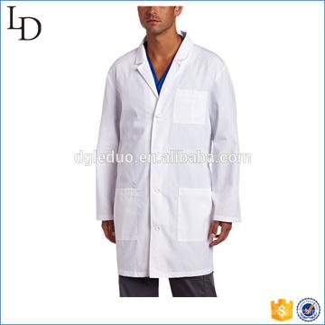 Back waist belt lab coat designs white coat for medical staff