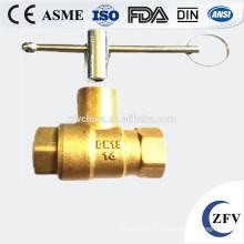 Usine prix 4 pouces cw617n forgé fabricant mini laiton robinet à boisseau sphérique