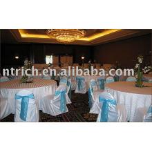 Housses de chaises satin, housses de chaises de l'hôtel de réunions/banquets, ceinture d'organza