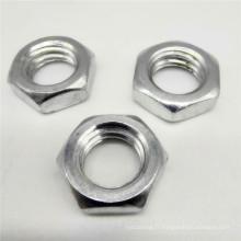 Écrou de blocage en titane hexagonal en aluminium