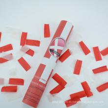 """Cañón de confeti de Dinamarca de 12 """"con slip de papel antideflagrante blanco y rojo"""
