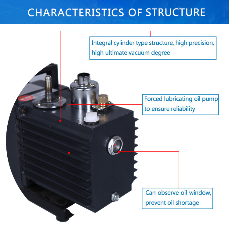 Mini Two Stage Oil Rotary Vane Vacuum Pump