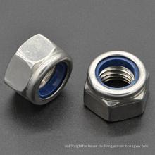 Nylon-Einsatz Sechskant-Verschlussmutter DIN985 (CZ403)