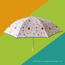 Безопасный дизайн с защитой для рук Детский зонт с героями мультфильмов