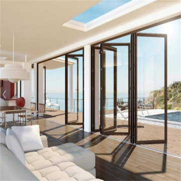 High Quality Soundproof Double Glazing Folding Door