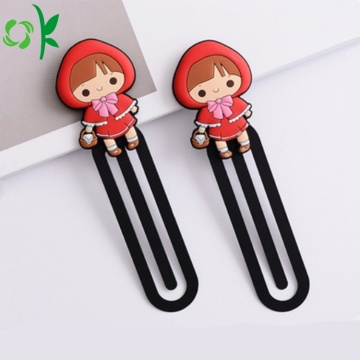 Populär Cartoon Silicone Bookmark for Book