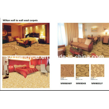 Power Loom Wall to Wall Wilton Wool Hotel Carpet