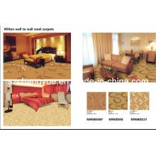 Power Loom parede a parede Wilton Wool Hotel Carpet