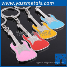Chine fabricant oem metal music note keyhain