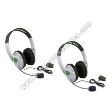 White Headset With Microphone Mic For 360 Xbox360