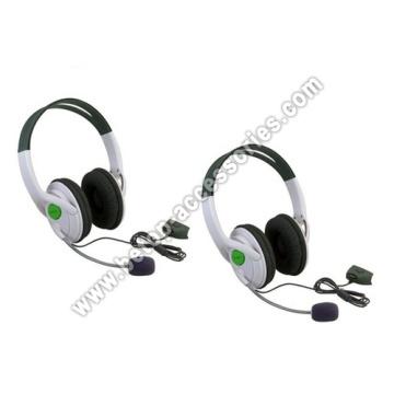 Weiße Kopfhörer mit Mikrofon für 360 Xbox360