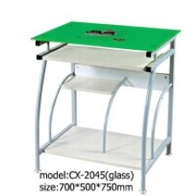 2016 Modern Glass Green Color Computer Desk