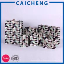 Bolsa de papel de presente de estilo kraft de luxo de luxo personalizada