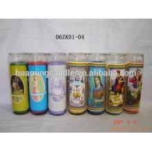 Huaming 7 días velas al por mayor exportadores / 7 días de vidrio velas religiosas