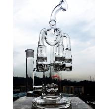 Neuer Entwurfs-Großhandelsqualitäts-Recycler-rauchender Glaswasser-Rohr