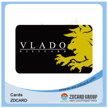 Cartão transparente do PVC do plástico com código de Qr