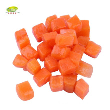 Chinese 10mm 5mm First Grade IQF Frozen Carrot Dices