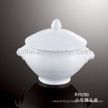 Porcelana branca chinesa agradável sopa de sopa resistente ao calor