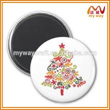 Симпатичная рождественская елка и мультфильм животных обычай Магнит на холодильник для дешевых творческих подарков
