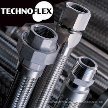 Manguera de metal flexible para construcción, uso industrial e ingeniería. Fabricado por Technoflex Corporation. Hecho en Japón