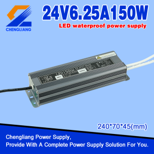 24V 150W IP67 Waterproof SMPS For LED Strip