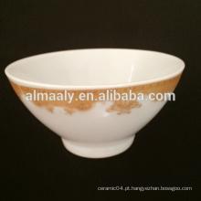 """5 """"tigela de porcelana cerâmica footed"""