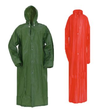 PVC / 폴리 에스테르 RainJacket with Zipper Button