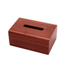 Caja de pañuelos de madera maciza hecha a mano personalizada para el hogar