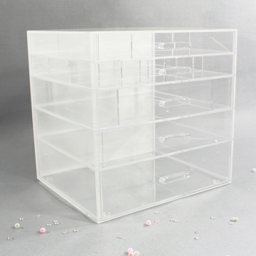 Goedkope acryl make-up organizer box