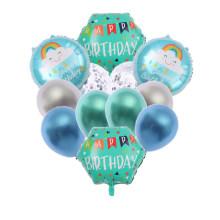 Superstarer 12 Birthday Balloon Set Aluminum Film Ball Set Children Birthday Party Decoration Sequined Balloons
