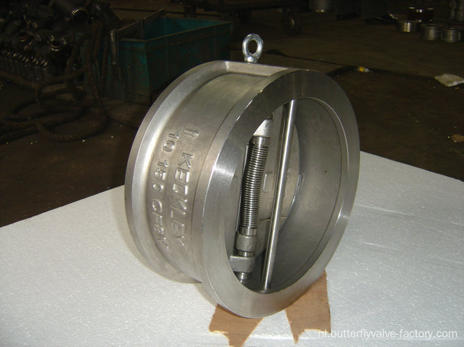 RVS Wafer Type Dual-plaat terugslagklep